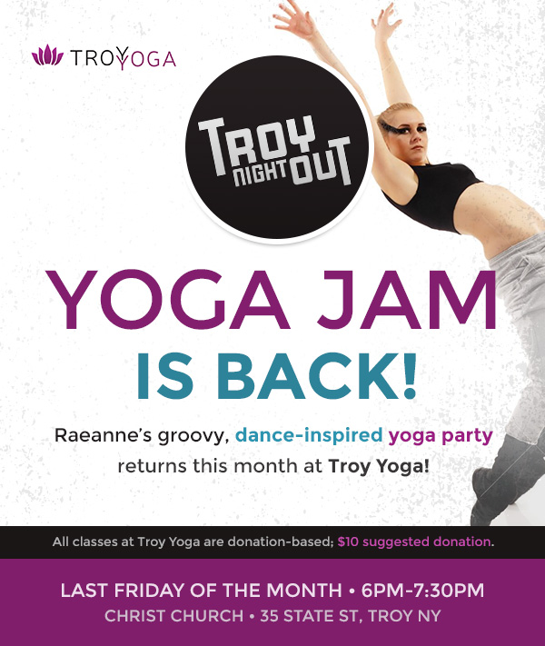 Troy Night Out Yoga Jam at Troy Yoga