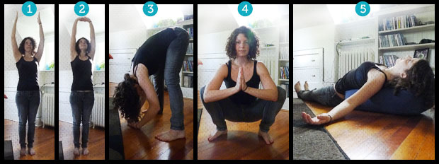 5 poses to let go of your day