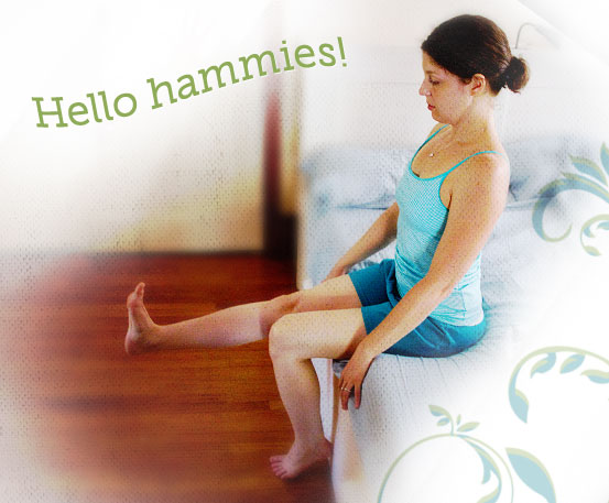 Morning hamstring stretch