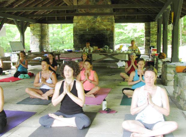 Pavilion Yoga Class