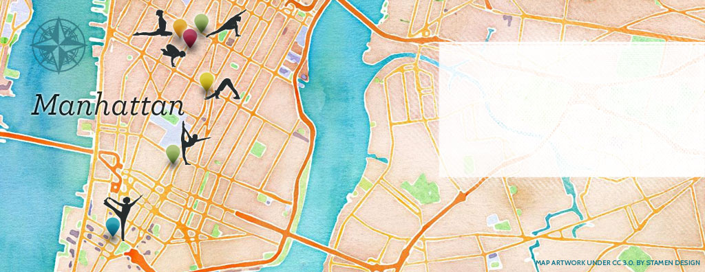 Must-visit New York City Yoga Studios Map