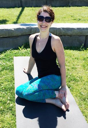 Raeanne on the yoga mat