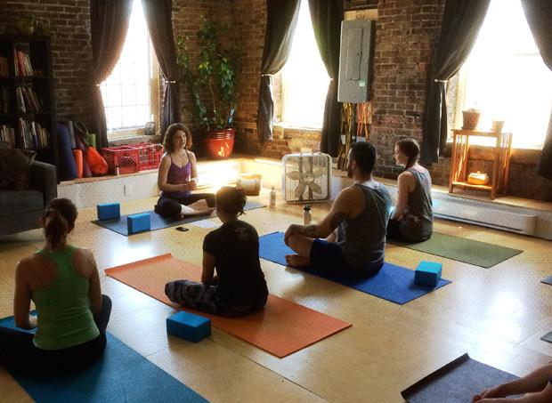 Yoga brunch class
