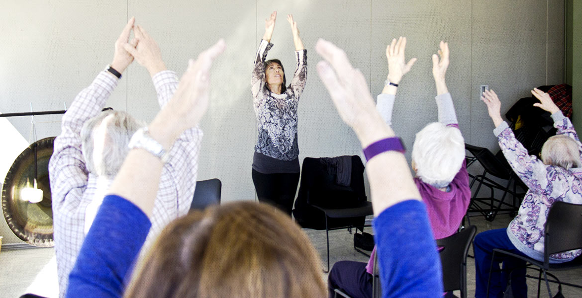 Yoga for Parkinson's class with Tamara Cookingham
