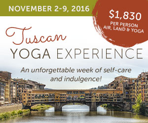 Yoga in Tuscany November 2-9 2016
