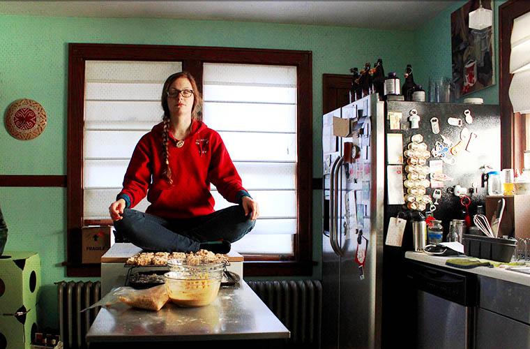 Vegan Fried Chicken: meditation break!