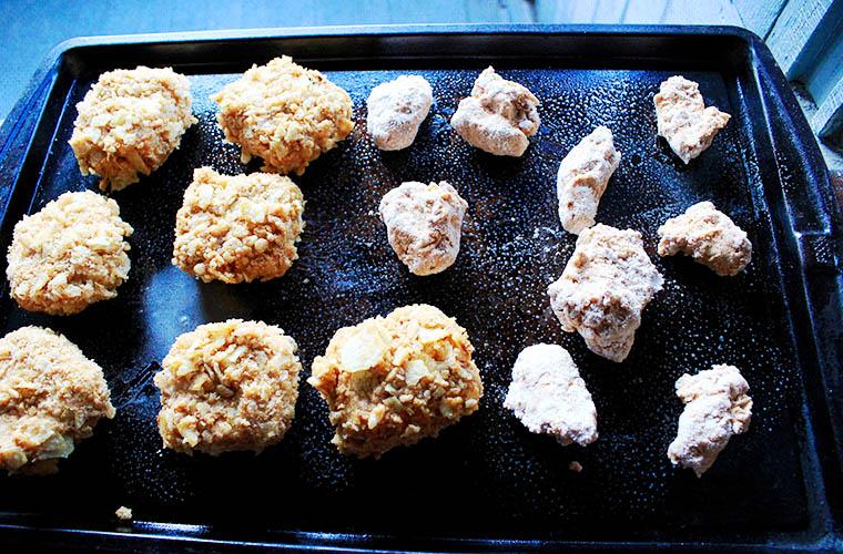 Vegan Fried Chicken: baking