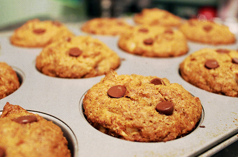 Mmmmmm, nice golden brown banana bread muffins