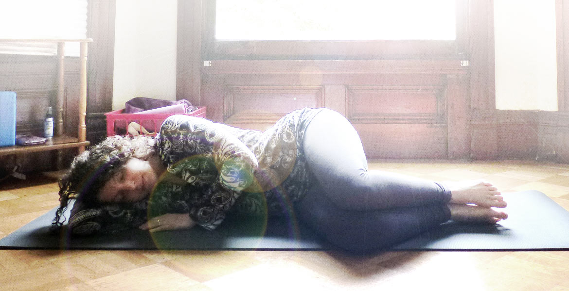 fetal position savasana yoga