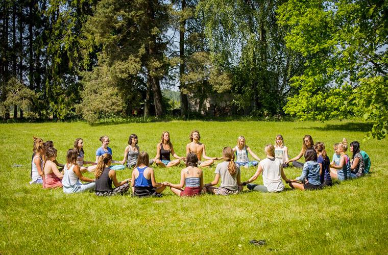 latvia yoga trip: meditation circle