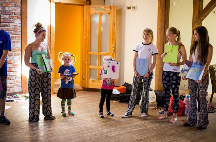 latvia yoga trip: children art project