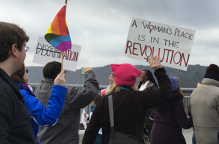 The Women's March Over the Hudson, January 2017.