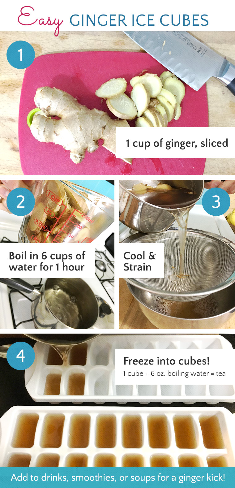 Easy Ginger Ice Cube Recipe