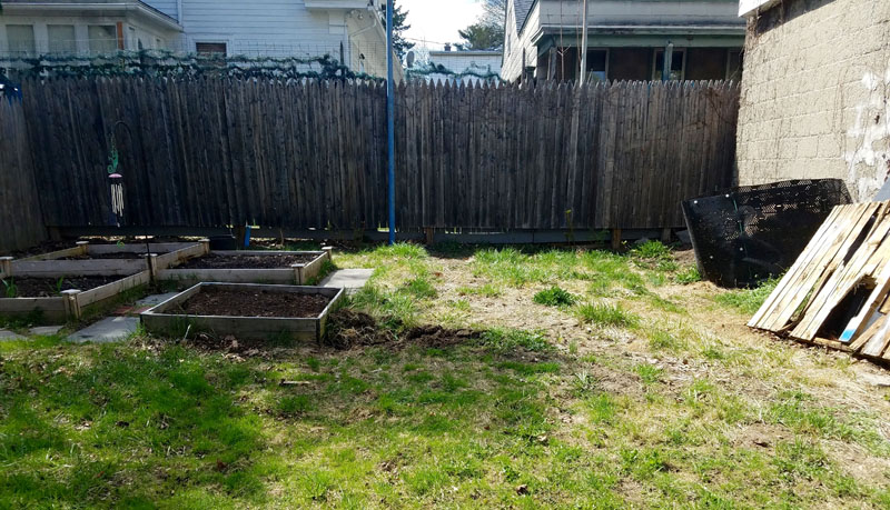 The blank patch before the digging.]