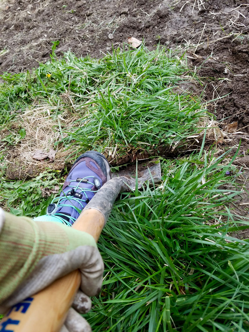 How to dig under sod